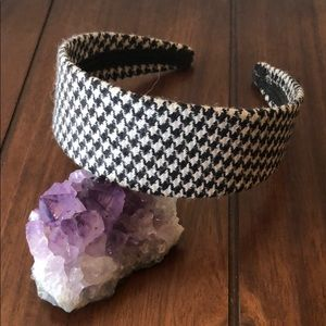 Anthro Houndstooth Broad Band Headband